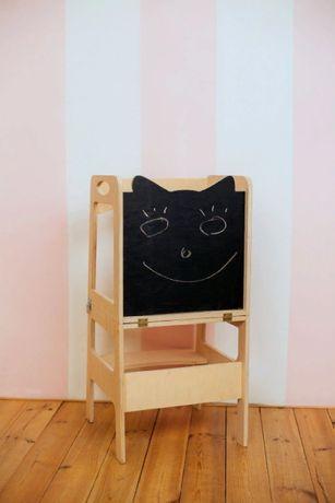 Стул помощника. Обучающая башня Монтессори-стол и стул, башня с доско