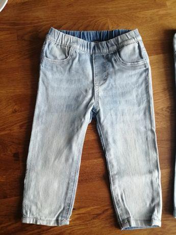 Spodnie jeans dziecięce h&m 74
