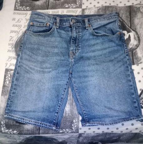 Vendo calções ganga Levis 502 W32