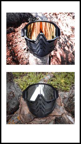 Máscara com Óculos para Capacete Aberto (2 Modelos)Nº2|NOVAS