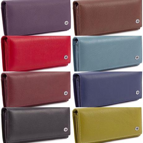 Кожаный женский кошелек бирюзового цвета ST Leather из Турция,