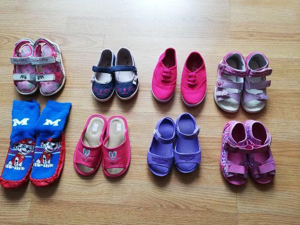Buty dla dziewczynki 10 par! (trampki,papcie, sandały) rozmiar 24