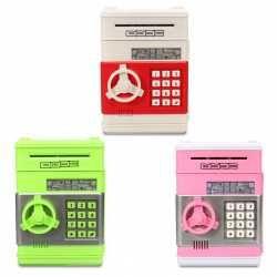 Копилка сейф с кодовым замком Красный , Голубой ,Зеленый ,Розовый