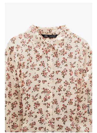 Zara блуза с принтом блузка