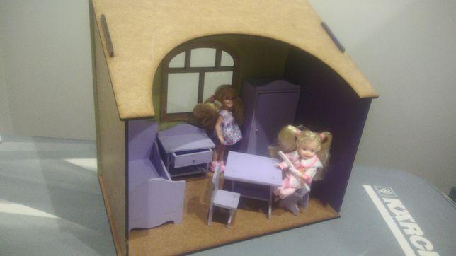 Domek.diorama.meble