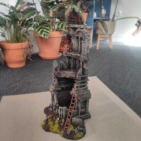 Wieża warhammer, makieta, teren do gier bitewnych
