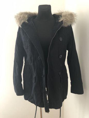 Zimowa ocieplana kurtka parka H&M r. 38
