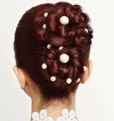 ozdoby do włosów perełki, ślub, komunia