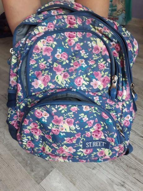 Plecak ST.REET niebieski w kwiaty