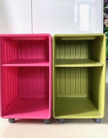 2 mini estantes/ caixas com rodas DIDRIK (IKEA já descontinuado)