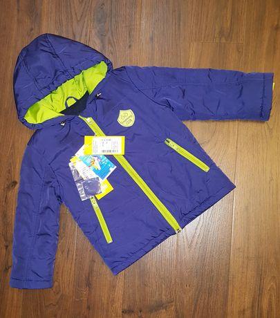 Осенняя куртка на мальчика ТМ Бемби, плащевка+утеплитель + флис, р.92