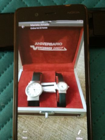 Conjunto relógio homem e senhora