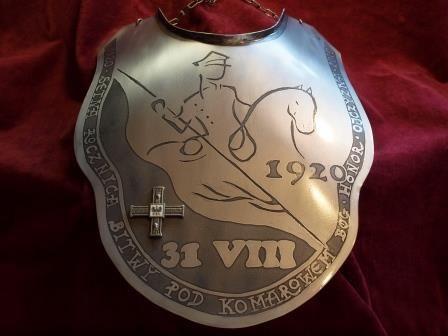 Ryngraf 100 rocznica bitwy pod KOMAROWEM 1920 bardzo duży do szabel