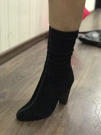 Сапоги ботинки полусапожки кожаные