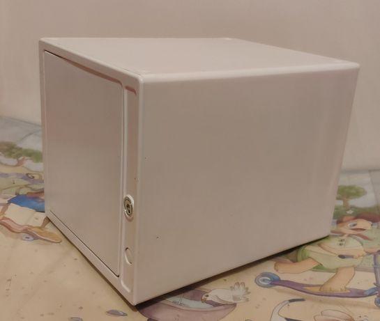 Caixas Organizadoras Porta CDs Arquivo Com Chave