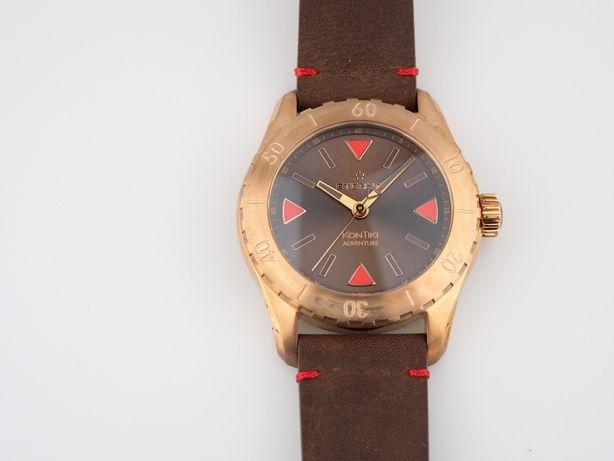 Мужские новые часы Eterna KonTiki Adventure Bronze 44 мм