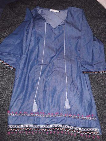 Túnica/vestido de ganga