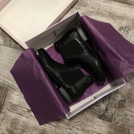 Нові шкіряні черевики ботинки челсі eric michael 35 розміру