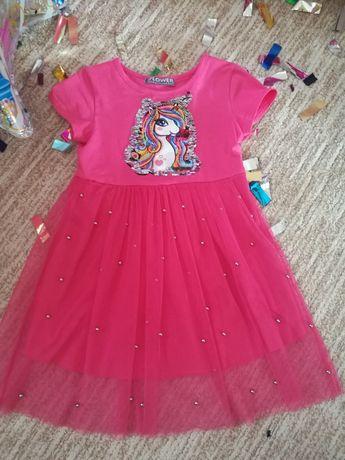 Платье единорожка