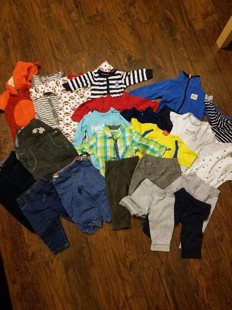 Ubranka dziecięce 9-12 miesięcy, pajacyki, spodnie, body, rozmiar 80