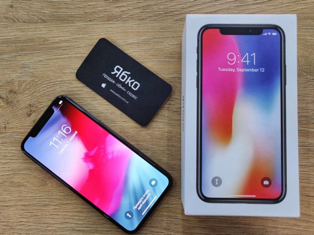 Iphone X 64/256 gb (space/silver) б/у