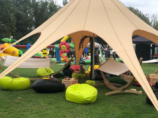 Namiot gwiazda Jehlan, chillout - wynajem namiotów na Komunie, wesela