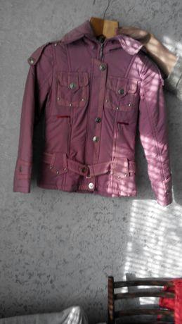 Куртка розовая сиреневая для девочек