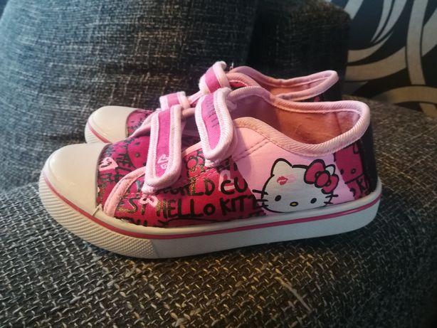Hello Kitty 30 buty trampki na rzepy