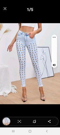 Spodnie jeans rozm L