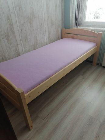 Łóżko pojedyncze, sosnowe, wysokie,idla seniora