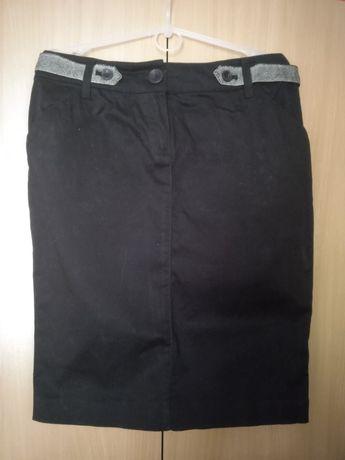 Черная юбка-карандаш талия 65-70см, размер S