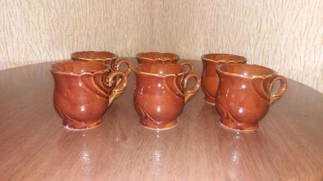 Набор кофейных чашек керамика 6 шт