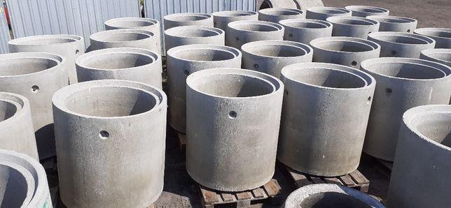 Kręgi betonowe dryny fi 800 x 1000 atest studnie Śląsk atestowane
