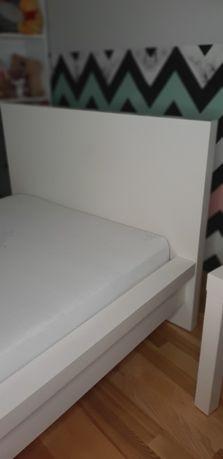 Łóżko Ikea Malm 90x200+stelaż Ikea+materac sprężynowy