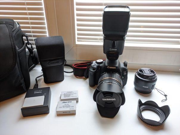 Фотоаппарат Canon 600D + 2 Объектива