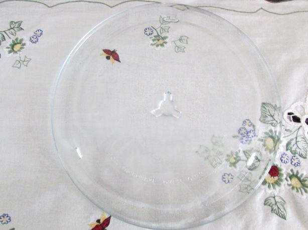 Talerz szklany do mikrofalówki średnica 26 cm