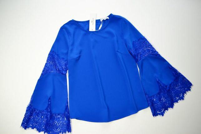 Нежная синяя блуза с красивыми рукавами Pink Woman
