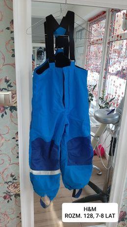 Spodnie narciarskie zimowe H&M dla chłopca rozm. 128cm 7-8 lat