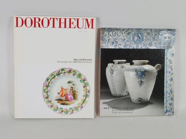 2 katalogi aukcyjne szkło i porcelana Dorotheum/ Nagel auktionen