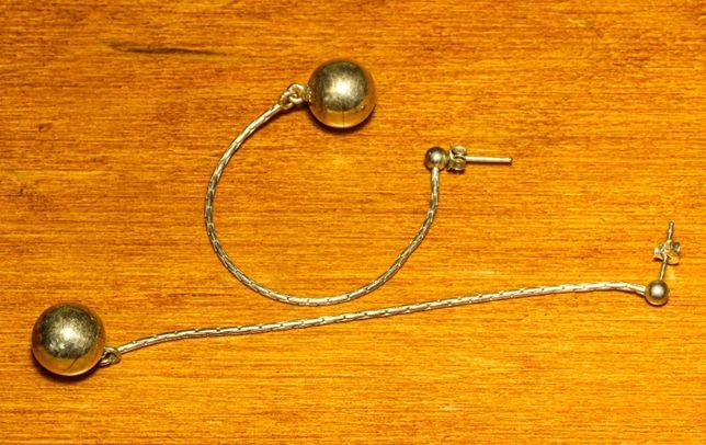 Серьги длинные с серебряным покрытием