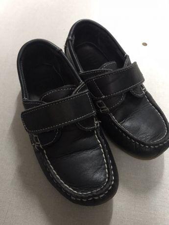 Sapato pele azul
