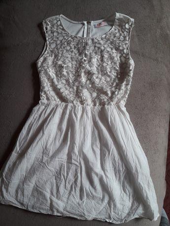Sukienka biała krótka rozmiar M FB Sister