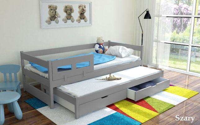 Łóżko podwójne TONY 200x90 z barierką + materace