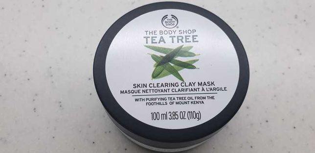 Zestaw kosmetyków The Body Shop Tea Tree maseczka żel punktowy olejek