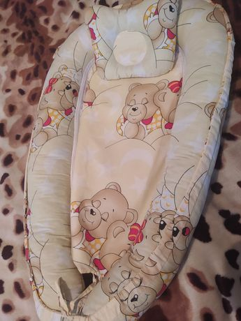 Детский кокон с подушкой
