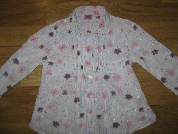 Хлопковая блуза (рубашка) на 2-3 года