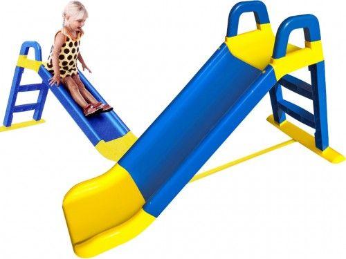 Горка детская пластиковая сине-желтая для катания детей дитяча гірка