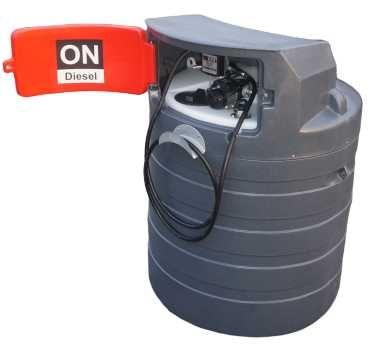 Zbiornik dwupłaszczowy na paliwo 1500L MD