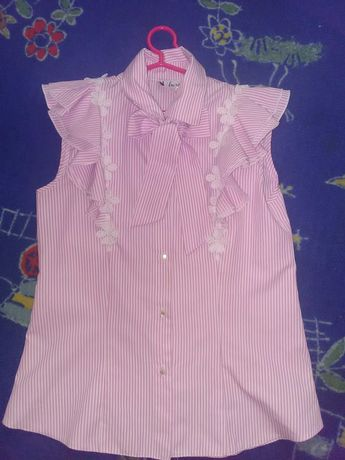 Блуза школьная альберо .+обруч в подарок!