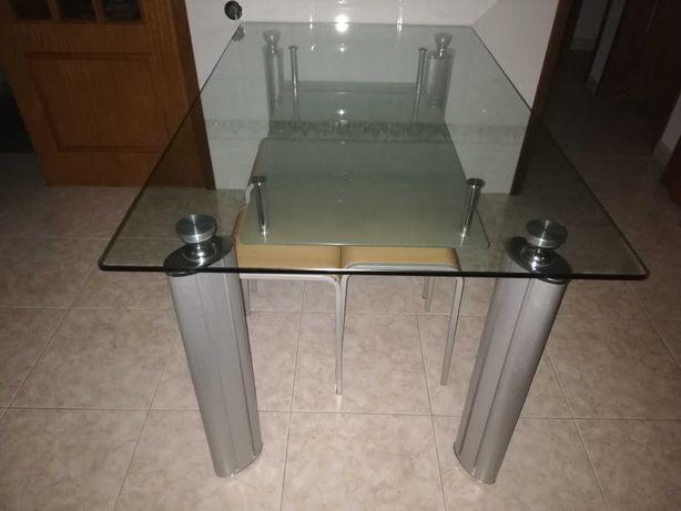 Mesa cozinha vidro temperado